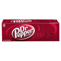 Dr Pepper Soda, 12 fl oz cans, 12 pack