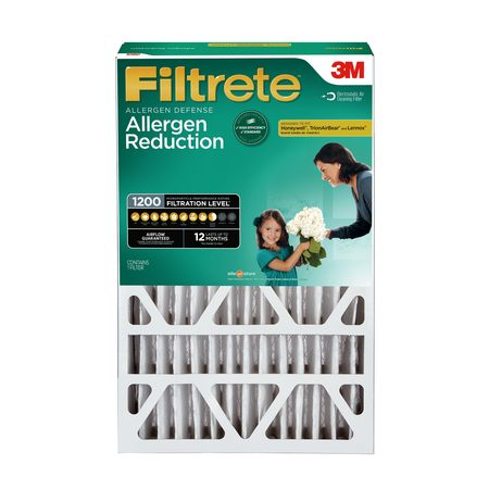 Filtrete 16x25x4, Allergen Reduction Deep Pleat HVAC Air and Furnace Filter, 1200 MPR, 1 Filter ()
