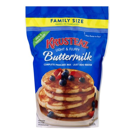 (2 Pack) Krusteaz Complete Buttermilk Pancake Mix, 5-Pound Family Size Bag