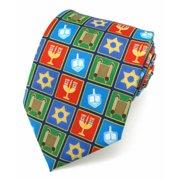 fa35cd587f7 Hanukkah Holiday Squares X-Long Tie