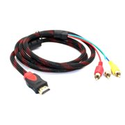 5ft hdmi male to 3 rca video audio converter component av adapter cable hdtv