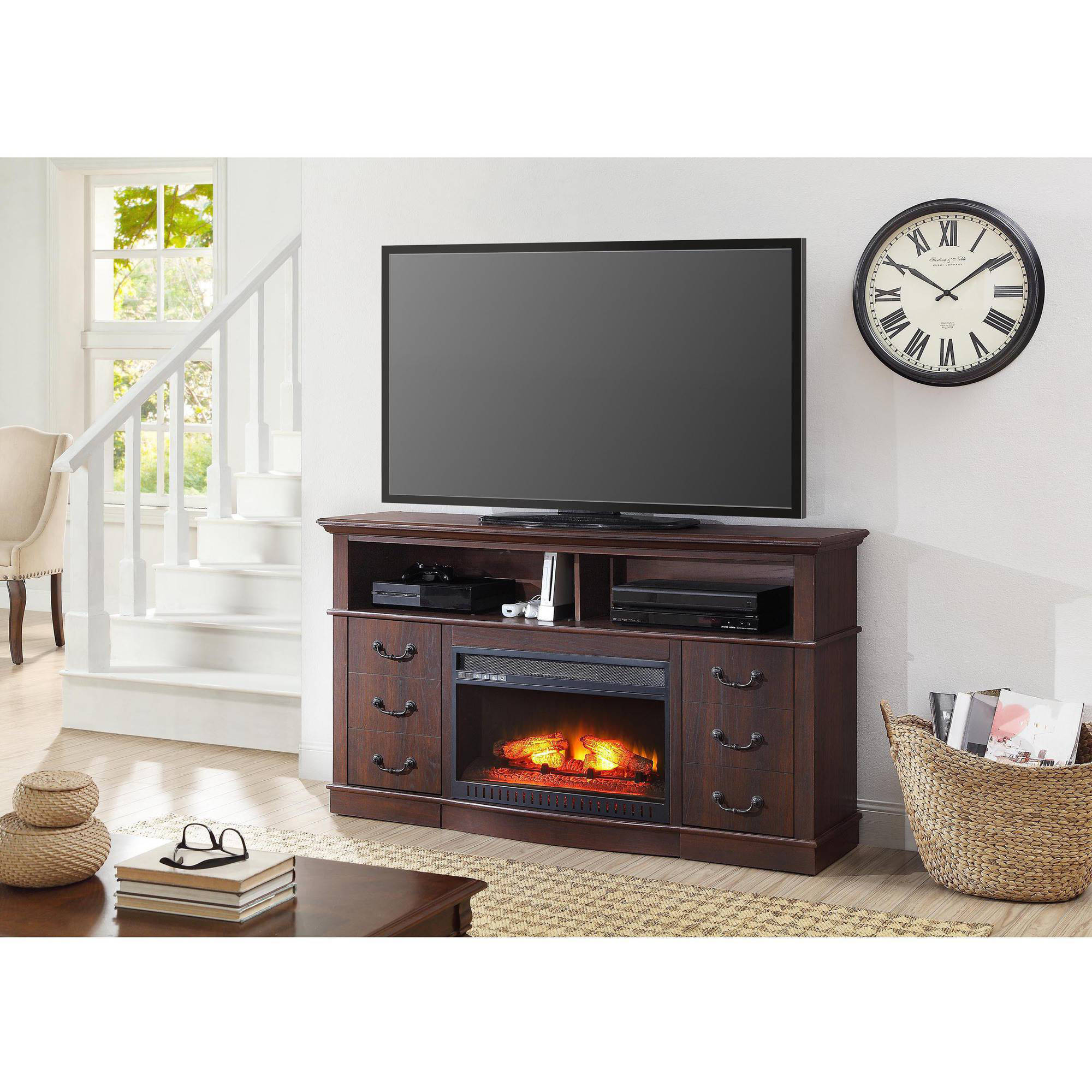 Sarah Check Hearth Cabinet: Sarah TV Stands: Better Homes And Gardens 60'' Media