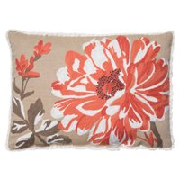"Better Homes and Gardens Bold Bloom Accent Pillow, Coral, 14"" x 20"""