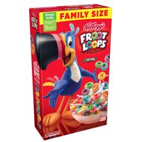 (3 pack) Kellogg's Froot Loops Breakfast Cereal, Fruit Flavored, 19.4 Oz