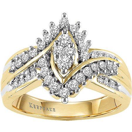 Shimmering 1/2 Carat T.W. Certified Diamond, 10kt Yellow Gold Ring ()