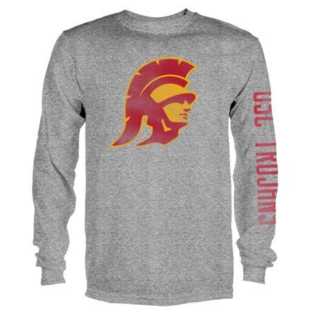 Men's Gray USC Trojans Notion Long Sleeve (Usc Trojans Tee)