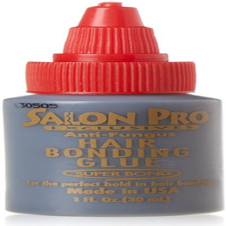 2 Pack - Salon Pro Hair Extension Bonding Glue, Black 1 oz
