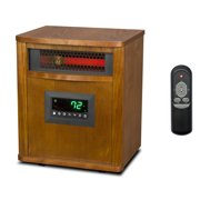 Lifesmart 6 Element 1500W Portable Infrared Quartz Mica Electric Space Heater