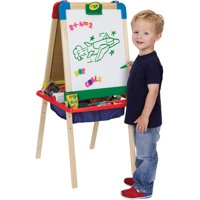 Crayola 3-in-1 Magnetic Wood Easel with Dry Erase, Chalkboard, and Painting Surfaces