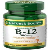 Nature's Bounty Vitamin B-12 500 mcg, 100 ea