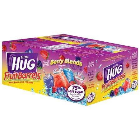 Banana Fruit Berry - Little Hug Fruit Drink Barrels Berry Blends Variety Pack, 8 Fl. Oz., 20 Count