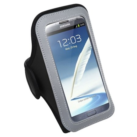 Insten Vertical Pouch Universal Black Sport Armband Phone Holder Case For Samsung Galaxy S7 S6 On5 Note 7 Core Grand Prime J7 J3 J1 2016 / ZTE Atrium Prestige / LG G Stylo Stylus G5 K7 Vista 2 X Style