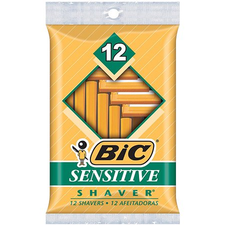 BIC Sensitive Shaver Disposable Razor, Men,