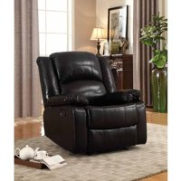 Leonel Signature Bonded Leather Glider Recliner, Multiple Colors