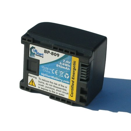 Canon Vixia HF21 Battery - Replacement for Canon BP-809 Digital Camcorder Battery (Decoded, 890mAh, 7.4V, Lithium-Ion)