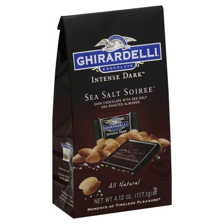 Ghirardelli Intense Dark Sea Salt Soiree Chocolates, 4.12 Oz.