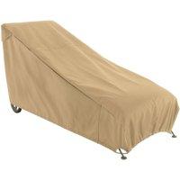 Classic Accessories Terrazzo Patio Chaise Furniture Storage Cover, Sand