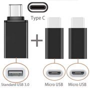 USB Type-C Adapter, Moona [3 in 1 Pack] USB C to