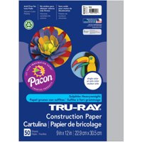 "Tru-Ray Construction Paper, 10 Assorted Colors, 9"" x 12"", 50 Sheets"