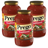 (3 Pack) Prego Pasta Sauce, Traditional, 24 oz. Jar