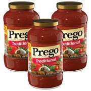 (3 Pack) Prego Pasta Sauce, Traditional, 24 oz. Jar