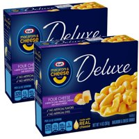 (2 Pack) Kraft Deluxe Four Cheese Macaroni & Cheese Dinner, 14 oz Box