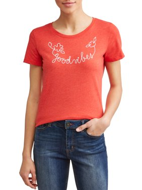 Good Vibes Short Sleeve Graphic Tee Women's