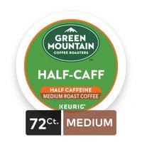 (4 Pack) Green Mountain Coffee Half Caff, Keurig K-Cup Pods, Medium Roast, 18 Count