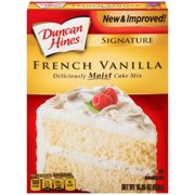(3 Pack) Duncan Hines SIGNATURE LAYER CAKE MIX French Vanilla 15.25 Oz