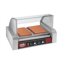 Great Northern Popcorn Mad Dawg Commercial 9 Roller Hot Dog Machine with Cover