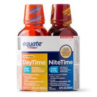 Equate Cold & Flu DayTime & NiteTime Acetaminophen,12 FL OZ, 2 Pk