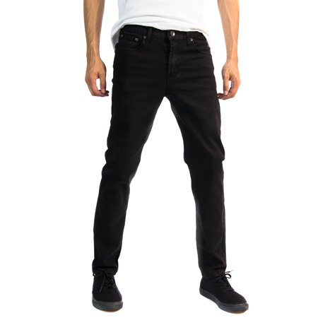 Blue Denim Crop - Alta Designer Fashion Mens Slim Fit Skinny Denim Jeans - Multiple Colors & Sizes