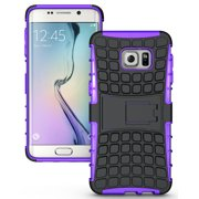 GALAXY S6 EDGE PLUS CASE, NAKEDCELLPHONE'S PURPLE/BLACK GRENADE GRIP RUGGED TPU SKIN HARD