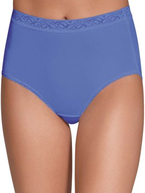 Women's Assorted Nylon Brief Panties - 6 Pack