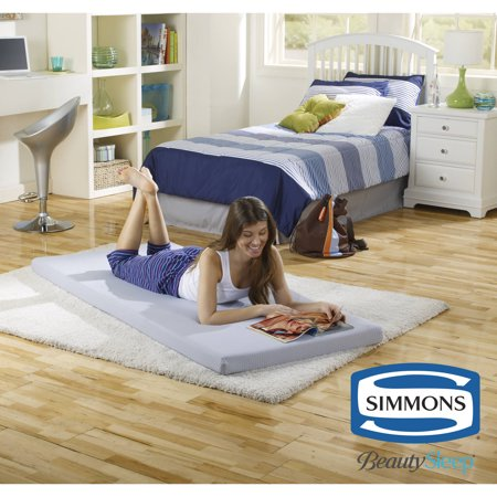 Twin Size Sofa Beds - Simmons Beautysleep Siesta Twin Memory Foam Guest Roll-Up Extra Portable Mattress Bed