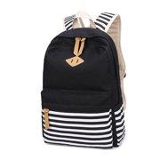 dfbe047053d Bocgsfdfgns 3 pcs Canvas School Backpack For Teen Girls, Bookbag Shoulder Bag  Casual Travel Backpack
