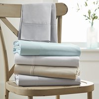 Better Homes and Gardens 300-Thread Count Solid Organic Sheet Set, Full, Arctic White