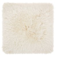 "Nourison Yarn Shimmer Shag Decorative Throw Pillow, 20"" x 20"", Cream"