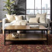 "Manor Park 48"" Angle Iron Rustic Wood Coffee Table - Barnwood"