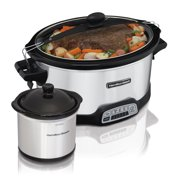 Hamilton Beach 7 Quart Stay or Go Programmable Slow Cooker with Party Dipper   Model# 33477