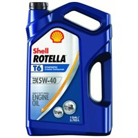 Shell Rotella T6 5W-40 Full Synthetic Heavy Duty Diesel Engine Oil, 1 gal