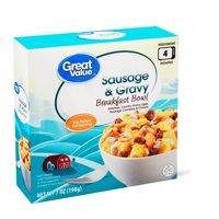 Great Value Sausage & Gravy Breakfast Bowl, 7 oz