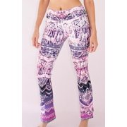 Appleletics Women's Unique Multi-Patterned Flare Yoga Pants (XS, Pink Tribal Sunset)