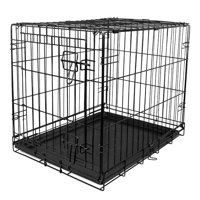 """Vibrant Life Dog Folding Crate, 24"""" Small Single Door Kennel w/Divider"""