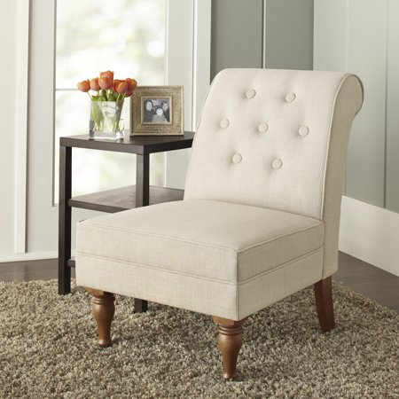 Better Homes & Gardens Colette Tufted Accent Chair, Multiple Colors (Accent Butter)