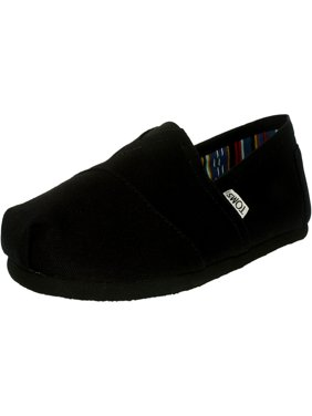 Toms Women's Classic Canvas Black On Ankle-High Flat Shoe - 5.5M