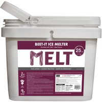 MELT 25 lb Bucket Beet-It Ice Melter with CMA & Beet Extract