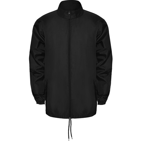 Thin Windbreaker Rain Jacket Foldable Hood - IF FOR MEN: SIZING RUNS SMALL GET THE NEXT SIZE UP - Full Zip - Pockets With Flap And Zipper - Packable - Adjustable Drawcords ()