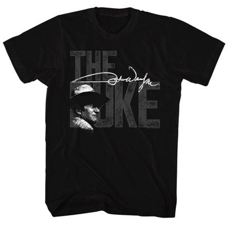 - John Wayne Hollywood Icon Actor Signature Duke Legend Western Adult T-Shirt Tee