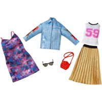 Barbie Fashion Trucker Jacket/Pleated Skirt Fashion 2 Pack